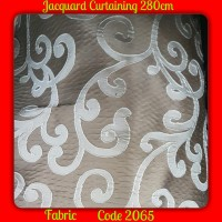 Jacquard Curtaining Fabric Material (280cm)