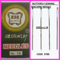 BUTTERFLY SEWING MACHINE NEEDLES N.O 14