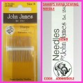 JOHN JAMES SHARP NEEDLES SIZE 8
