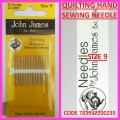 JOHN JAMES QUILTING HAND SEWING NEEDLE SIZE 9