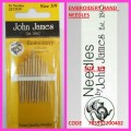 JOHN JAMES EMBROIDERY HAND  NEEDLES SIZE 3/9