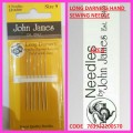JOHN JAMES LONG DARNERS HAND SEWING NEEDLE SIZE 9