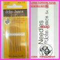 JOHN JAMES LONG DARNERS HAND SEWING NEEDLE SIZE 1/5