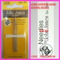 JOHN JAMES LONG DARNERS HAND SEWING NEEDLE SIZE 3/9