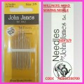 JOHN JAMES MILLINERS HAND SEWING NEEDLE SIZE 3/9