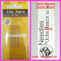 JOHN JAMES TAPESTRY HAND SEWING NEEDLE SIZE 22