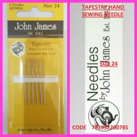 JOHN JAMES TAPESTRY HAND SEWING NEEDLE SIZE 24