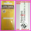 JOHN JAMES BEADING HAND SEWING NEEDLE SIZE 12