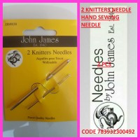 JOHN JAMES 2 KNITTERS NEEDLE HAND SEWING NEEDLE