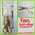 FAWZ METAL SCISSORS GOLD 9""