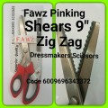 "FAWZ PINKING SHEARS 9"" SCISSORS ZIG ZAG BLADE"