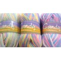 WOOL - KING COLE CANDY DOUBLE KNITTING MULTI COLOR