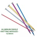 ALUMINUM SINGLE KNITTING NEEDLES - 12.50mm