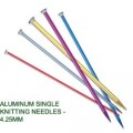 ALUMINUM SINGLE KNITTING NEEDLES - 4.25mm