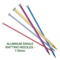 ALUMINUM SINGLE KNITTING NEEDLES - 7.50mm