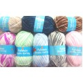 WOOL - PULLSKEIN DOUBLE KNITTING 2 TONE