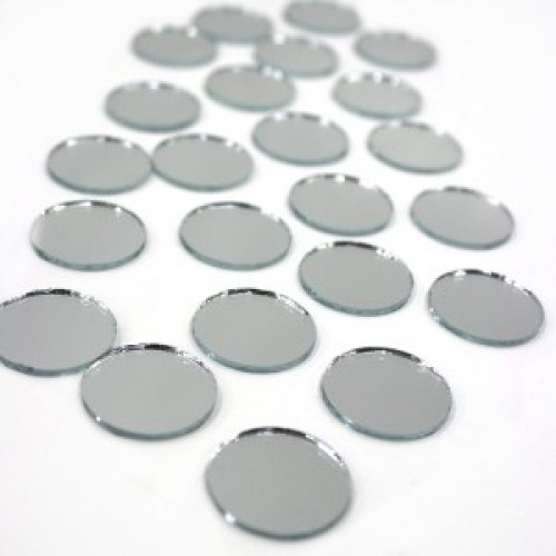 Round mirror pcs10 35mm habby hyper for Small round craft mirrors