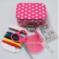 POLKA DOT TIN SEWING KIT