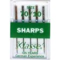 XLASSE SHARP MACHINE NEEDLES SIZE 70 10