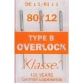 XLASSE TYPEB OVERLOCKER MACHINE NEEDLES SIZE 80 12
