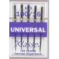 XLASSE UNIVERSAL MACHINE NEEDLES SIZE 100 16