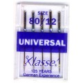 XLASSE UNIVERSAL MACHINE NEEDLES SIZE 80 12