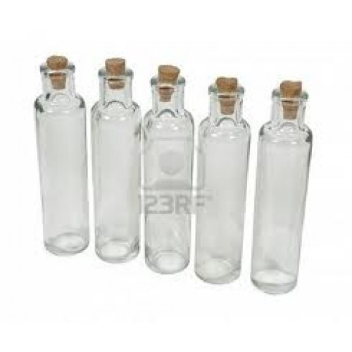 Little Glass Bottles With Cork In A Pack Large Habby Hyper