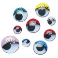 ROUND COLOR PRINTED ROUND PAST ON EYES ASSORTED COLORS 8MM AND 10MM AND 15MM